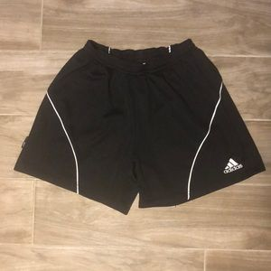 Adidas black soccer shorts